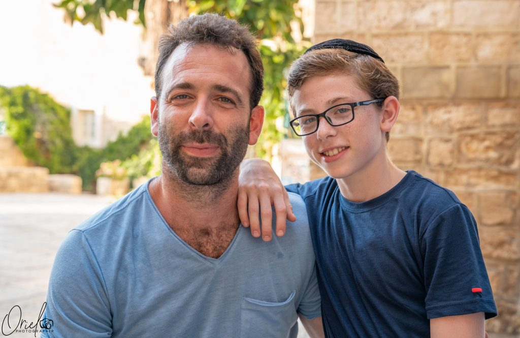 Meir Briskman and his son